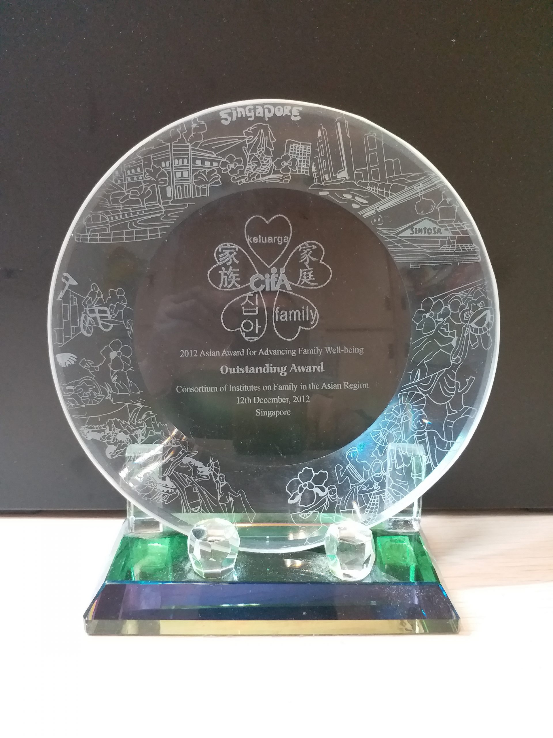 2012 Asian Award for Advancing Family Well being Outstanding Award